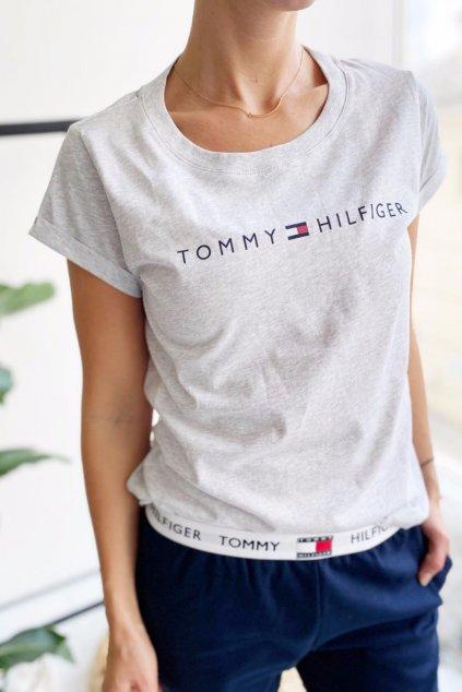 Tommy Hilfiger tričko dámské - šedé