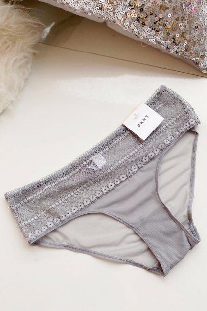 DKNY Litewear Lace kalhotky - šedé/stříbrné