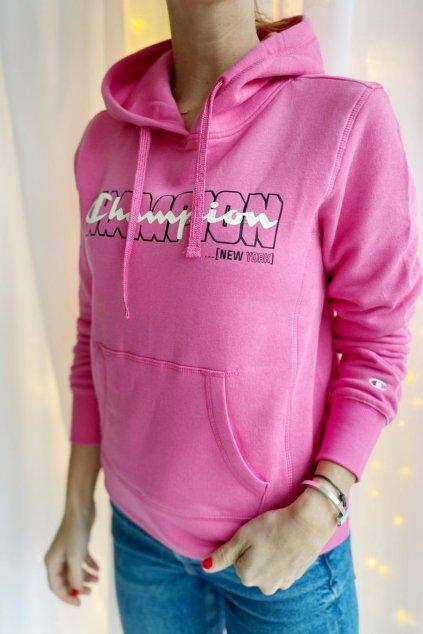 Champion mikina s logem dámská - růžová