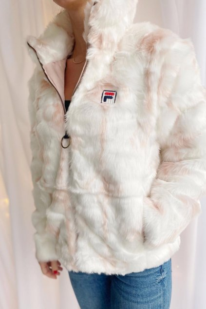 FILA HARUTO kožíšek dámský - bílá, světle růžová