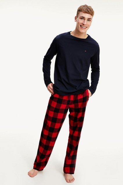 Tommy Hilfiger pánské pyžamo - tmavě modrá, červená