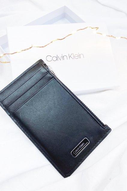 Calvin Klein pánská kožená peněženka - černá