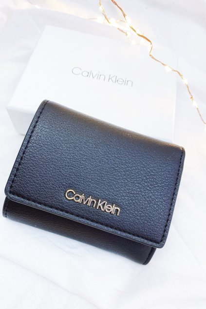 Calvin Klein peněženka dámská - černá