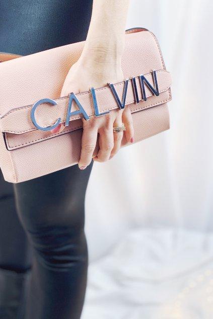 Calvin Klein clutch kabelka - růžová