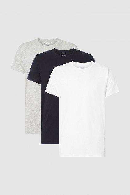 Calvin Klein 3 balení pánských triček - černá, šedá, bílá