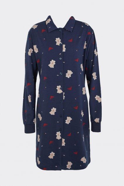 Emporio Armani Ginger Bread noční košile dámská - modrá