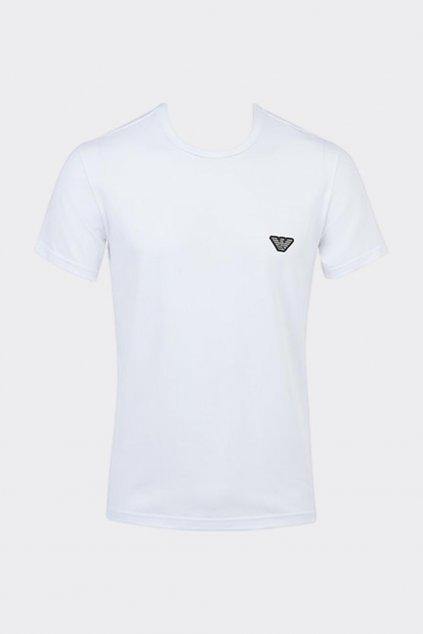 Emporio Armani Shiny Logoband tričko pánské - bílé
