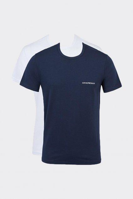 Emporio Armani 2-balení pánských triček - bílá, tmavě modrá