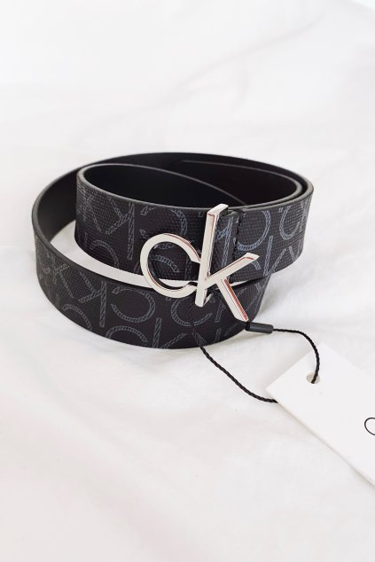 Calvin Klein pásek s monogramem dámský - černý