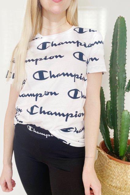 Champion dámské logo tričko - bílé