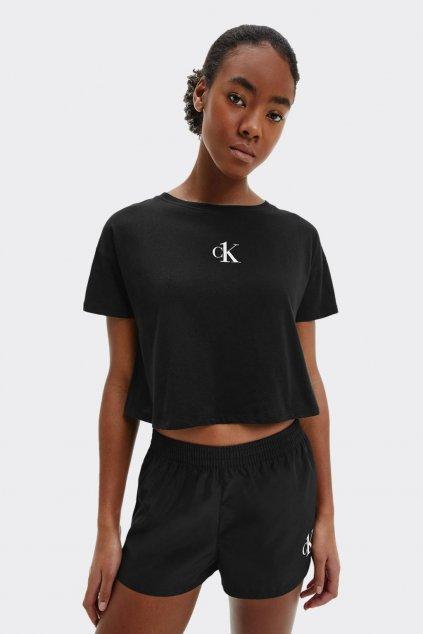 Calvin Klein crop tričko dámské - černé