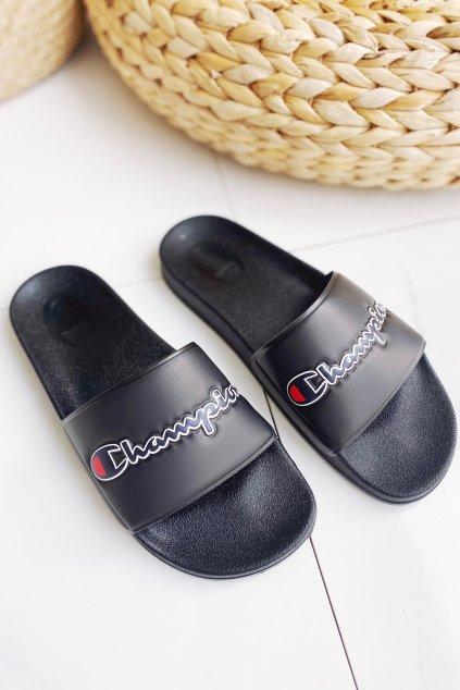 Champion M-EVO script pantofle pánské - černé