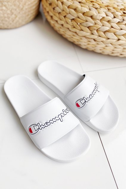 Champion M-EVO script pantofle pánské - bílé