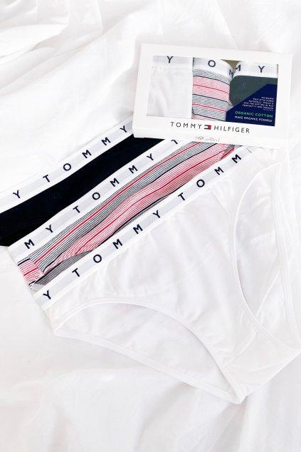 Tommy Hilfiger 3-balení kalhotky- bílá, modrá, červená