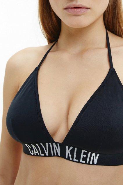 Calvin Klein Intense Power triangle vrchní díl plavek - černé