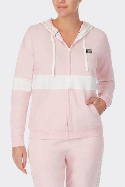 DKNY dámská mikina - světle růžová