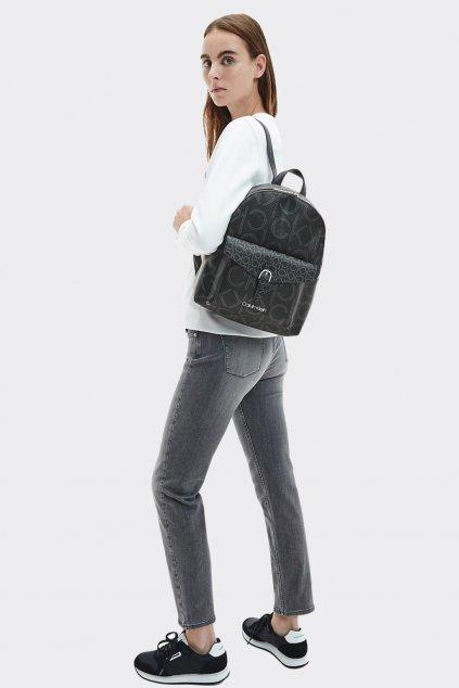 Calvin Klein monogram batoh dámský - černý