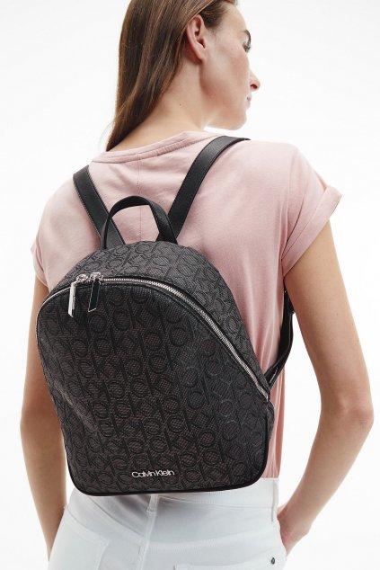 Calvin Klein Jacquard  batoh - černý