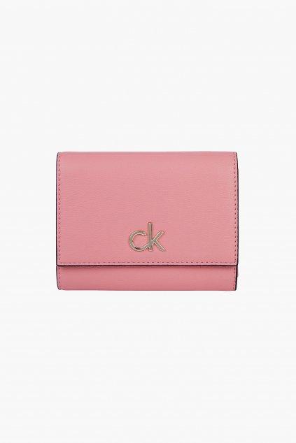 Calvin Klein trifold peněženka dámská - růžová