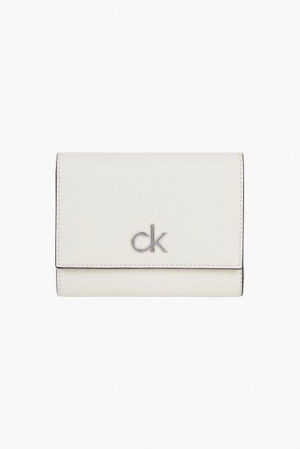 Calvin Klein trifold peněženka dámská - smetanová