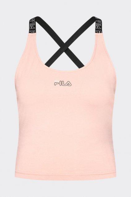 FILA cropped top JANICE - světle růžový
