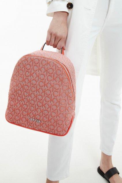 Calvin Klein Jacquard  batoh - cihlová