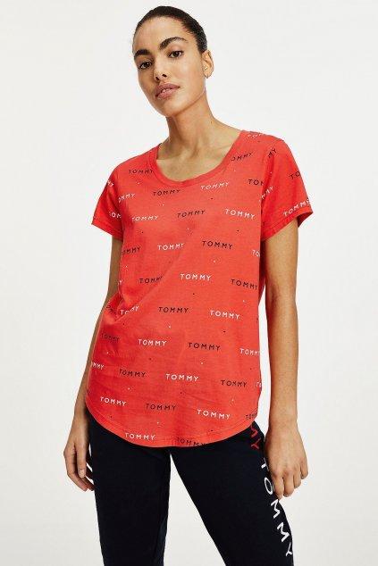 Tommy Hilfger tričko dámské z organické bavlny - červená