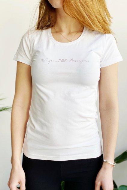 Emporio Armani Basic Cotton tričko dámské - bílé