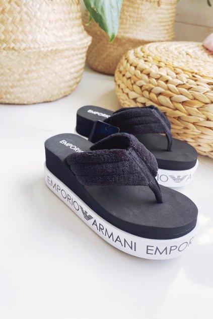 Emporio Armani žabky dámské - černé