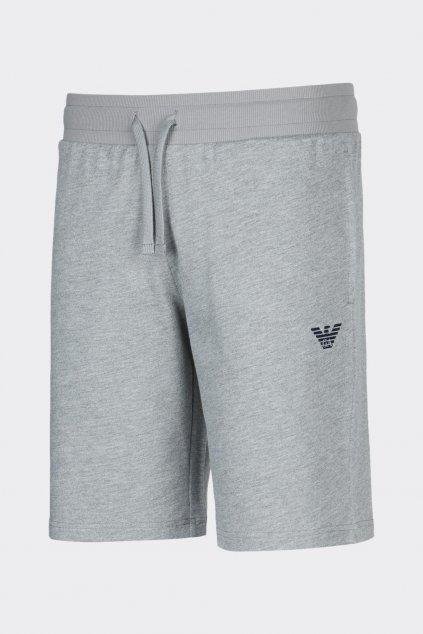 Emporio Armani logo terry šortky pánské - šedé