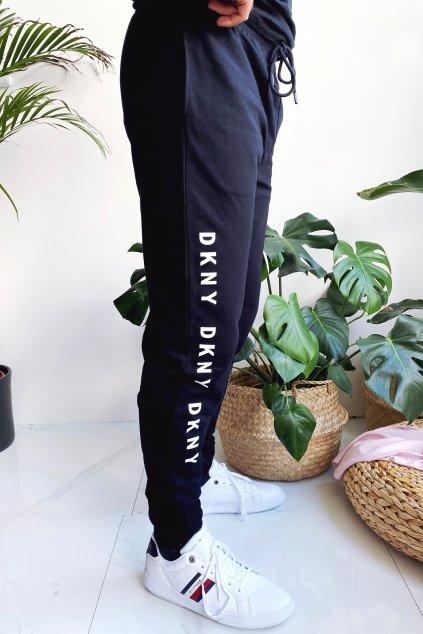 DKNY tepláky s logem pánské - černé