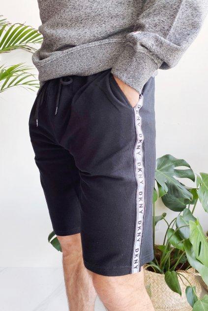 DKNY šortky s logem pánské - černé