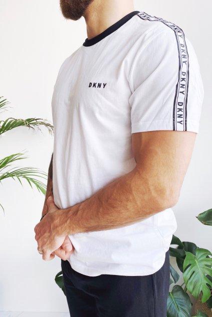 DKNY tričko s logem pánské - bílá