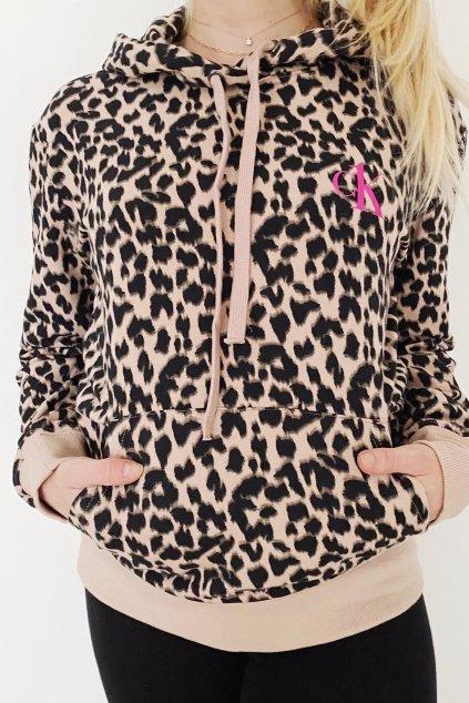 CK ONE mikina dámská - leopardí