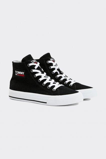 Tommy Jeans kotníčkové dámské tenisky - černé