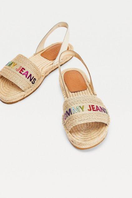 Tommy Jeans sandále dámské - béžové