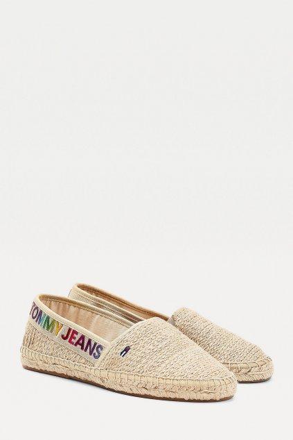 Tommy Jeans espadrilky dámské - béžové