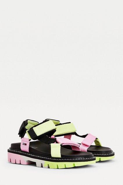 Tommy Jeans sandále dámské  - černé