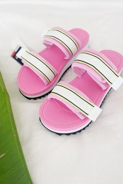 Tommy Jeans pantofle dámské - růžové