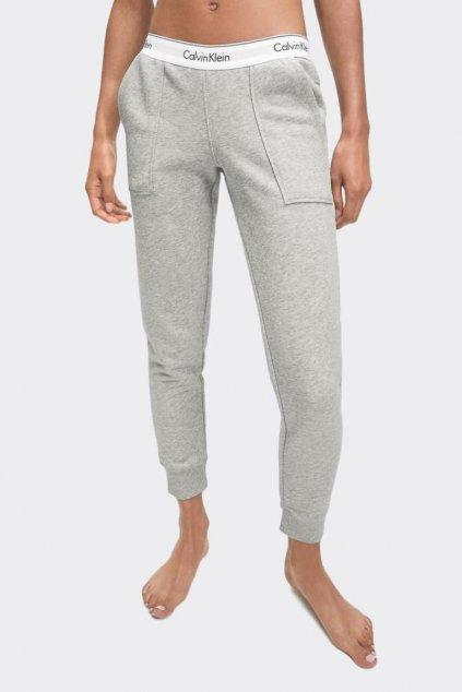 Calvin Klein Modern Cotton Tepláky dámské - šedé (Velikost XS)