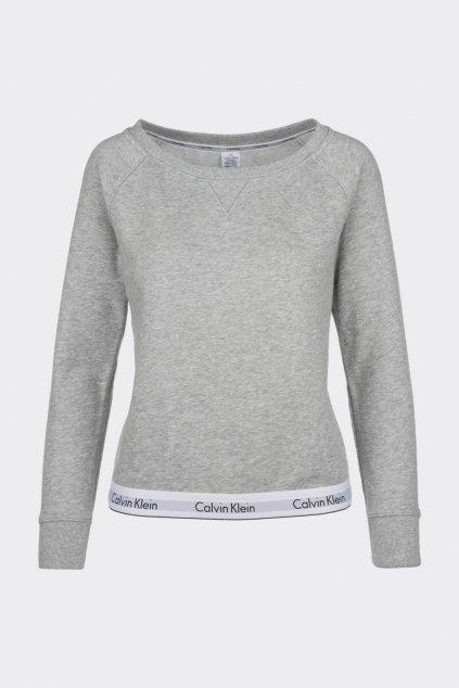 Calvin Klein Modern Cotton mikina dámská - šedá (Velikost XS)