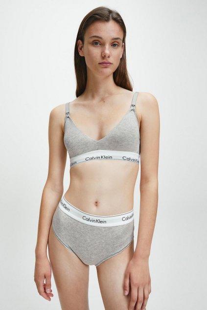 Calvin Klein Modern Cotton kojící podprsenka - šedá (Velikost XS)