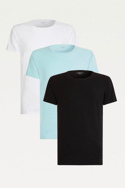 Tommy Hilfiger 3 balení triček Icon - černá, modrá, bílá