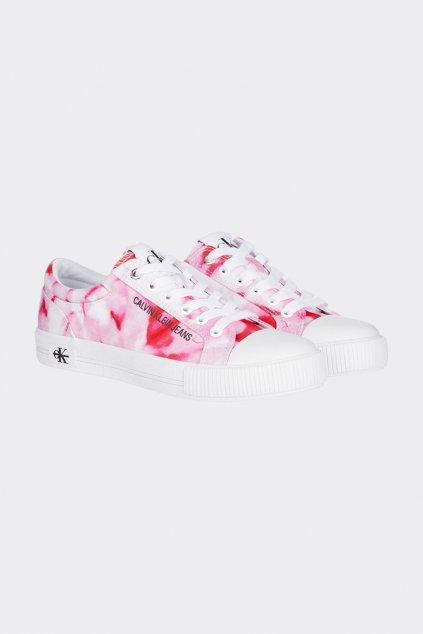 Calvin Klein Jeans marble tenisky dámské - bílá, růžová