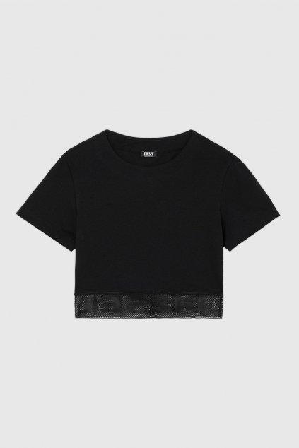 Diesel mesh crop tričko dámské - černé