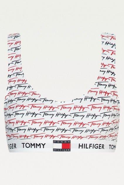 Tommy Hilfiger braletka s nápisy - bílá