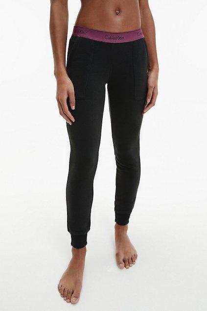 Calvin Klein Modern Cotton tepláky dámské- černá/vínová