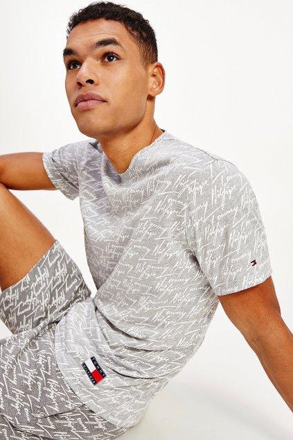 Tommy Hilfiger tričko z organické bavlny pánské - šedé