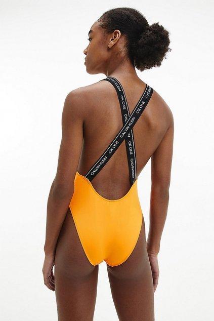 CK ONE jednodílné plavky - hořčicové