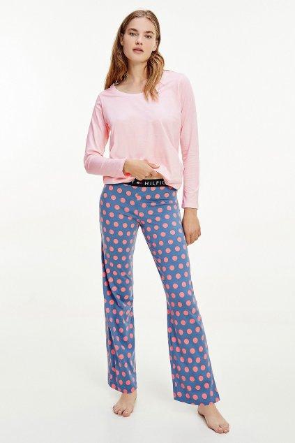 Tommy Hilfiger pyžamový set dámský - růžová/modrá